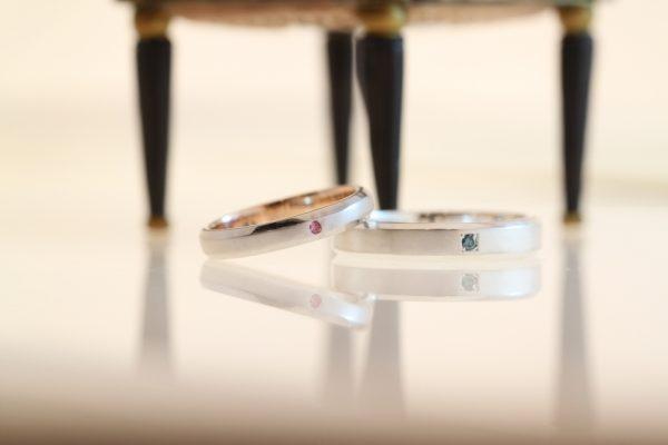 手作り,結婚指輪,ブルーダイヤ,ピンクダイヤ,静岡,ハンドメイド