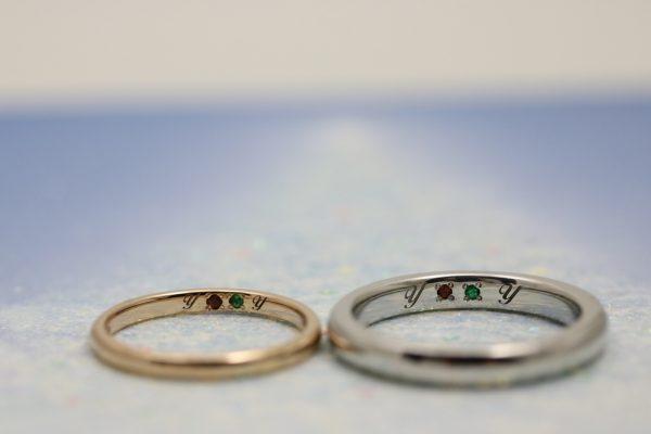 手作り指輪,静岡,結婚指輪,婚約指輪,誕生石,イニシャル