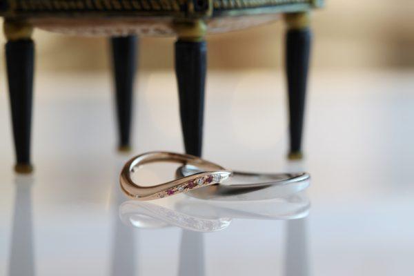 指輪,結婚指輪,静岡,手作り,ピンクサファイア,
